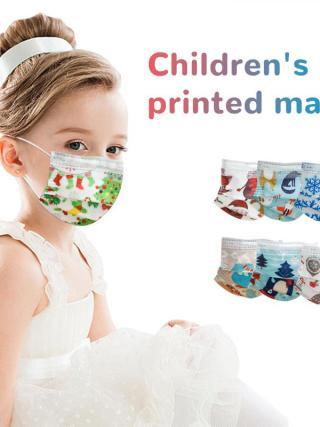 10/50/100pcs Disposable Christmas Face Masks