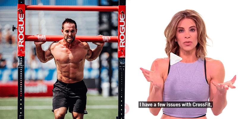 Rich Froning versus Jillian Michaels - Source- CrossFit : Jillian Michaels