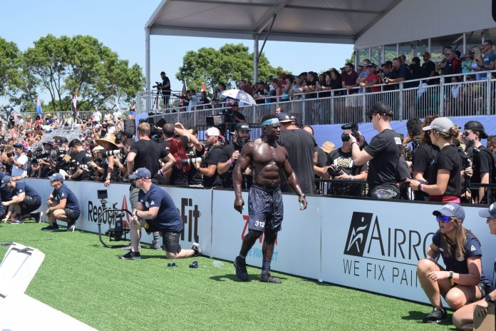 Chandler Smith walks off the field after an event at the 2019 CrossFit Games