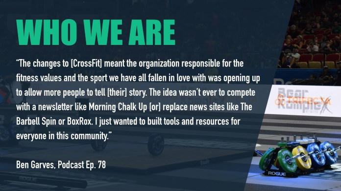 WODDITY makes tools and resources for fans of CrossFit, including live streams, podcasts, news, and analysis.