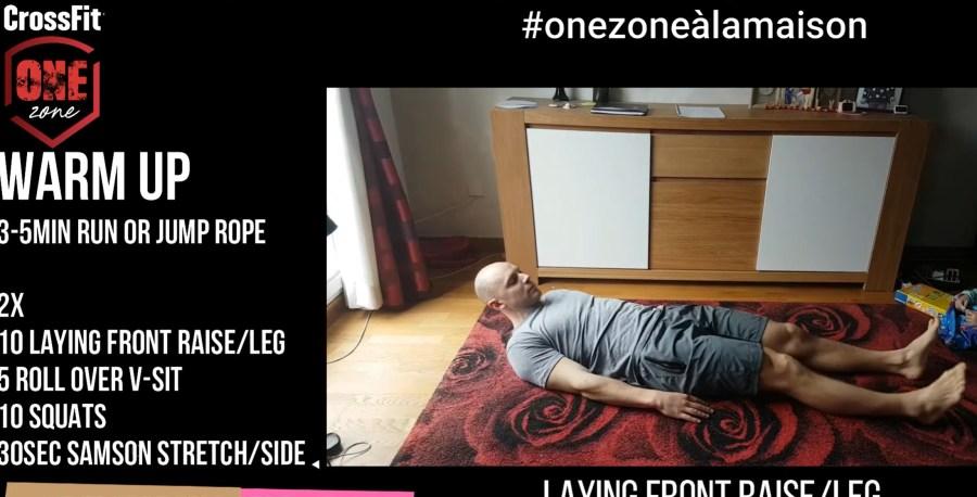 Le WOD du jour par crossfit one zone