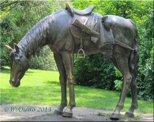 Ukrainisches Kosaken Denkmal Pferd