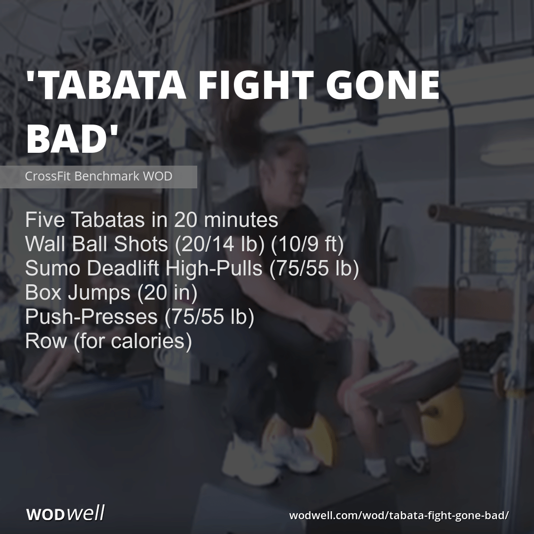 Quot Tabata Fight Gone Bad Quot Wod