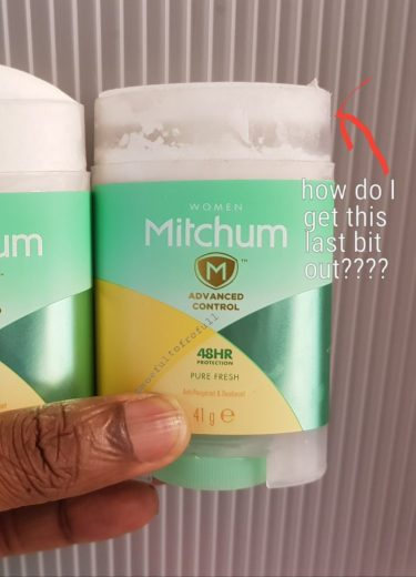 mitchum deodorant getting the last bit out