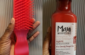 felicia leatherwood brush with the best maui moisture agave conditioner