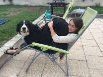 Christine und ihr Hund