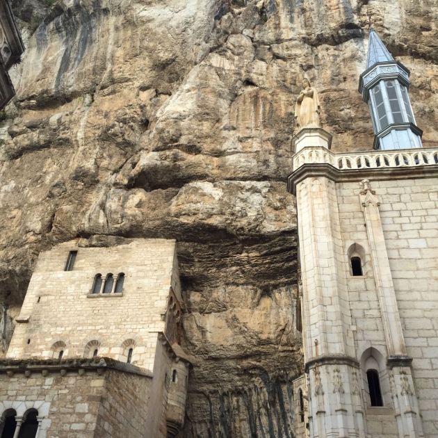 Im Zentrum des Klosters von Rocamadour