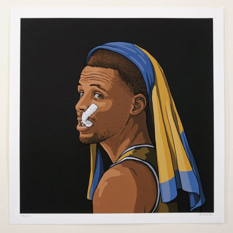 Boy With a Pearl Mouthguard (After Vermeer), 2016