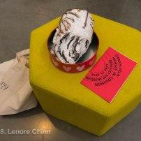 Moira Roth's mask (by Carlos Villa) + program (photo: Lenore Chinn)