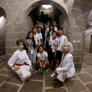 post-show with young volunteers, Intramuros