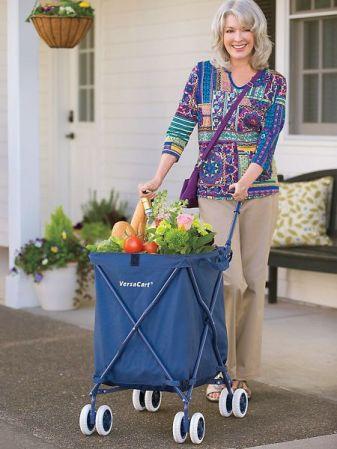 kobieta wózek na zakupy