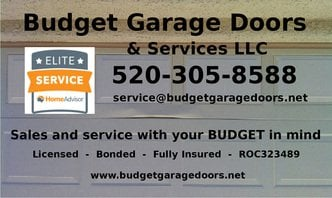 Budget Garage Doors & Services LLC Sign