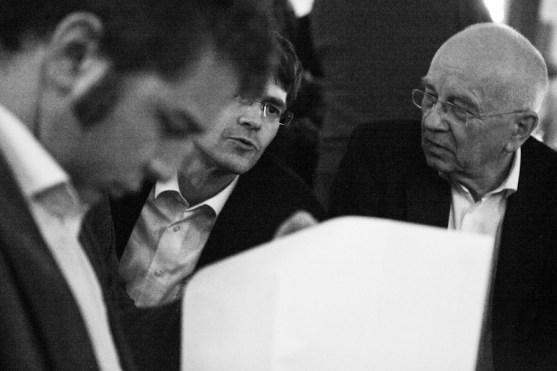 Christian Wohlrabe und Stefan Hennewig bei der Gründungsversammlung des cnetz