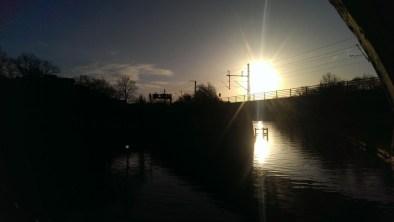 Sonnenaufgang am Gerickesteg