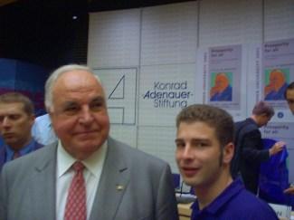 Mit Helmut Kohl 2002