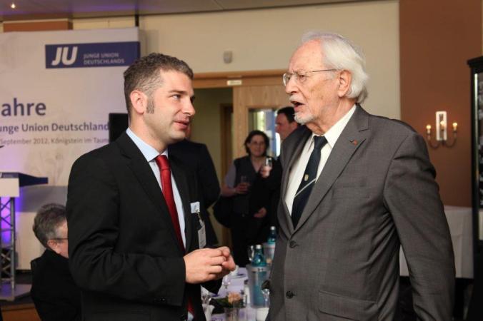 Mit dem ehemaligen Pressesprecher von Konrad Adenauer, Klaus Otto Skibowski