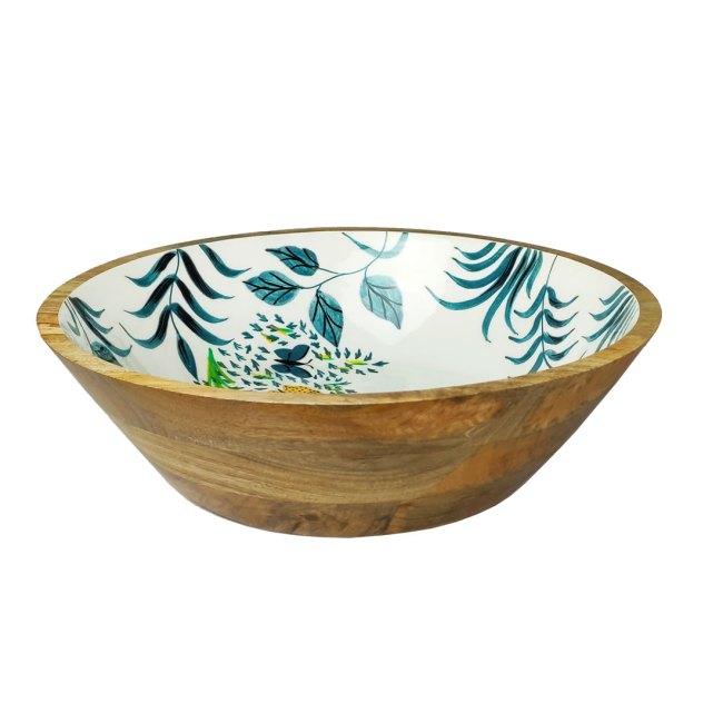 Holzschale Multicolor Design Mango Holz 40 cm Durchmesser