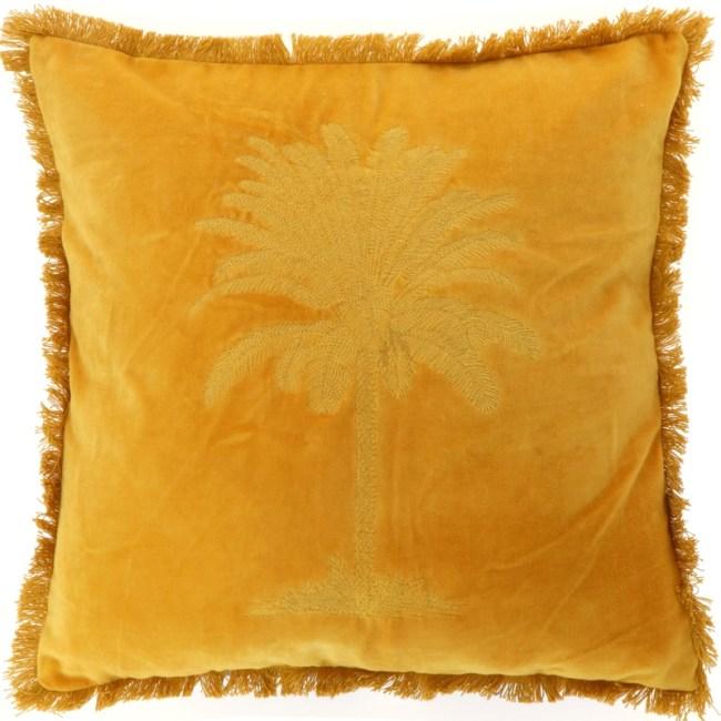 Kissen Palm Gelb