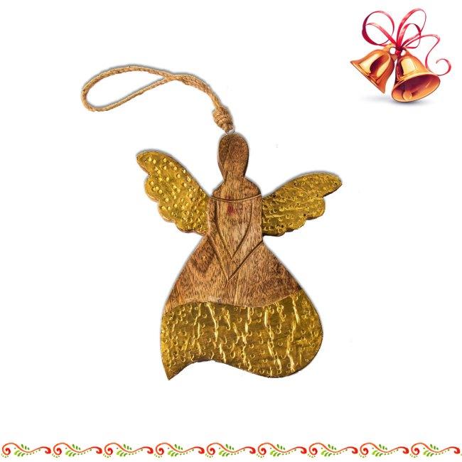 Engel aus mango-Holz zum aufhängen