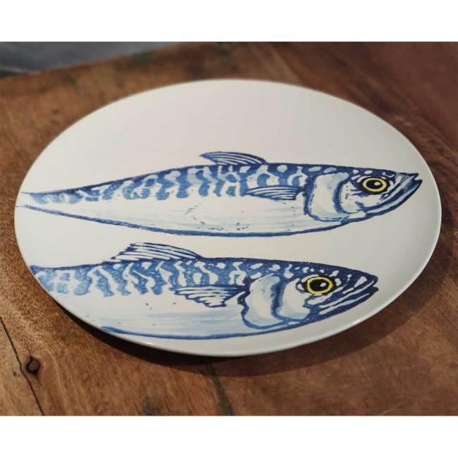 Essteller mit Fischmotiv
