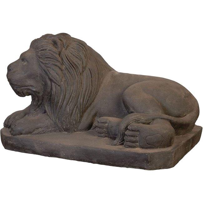 Löwe Steinguss Steinfigur Skulptur