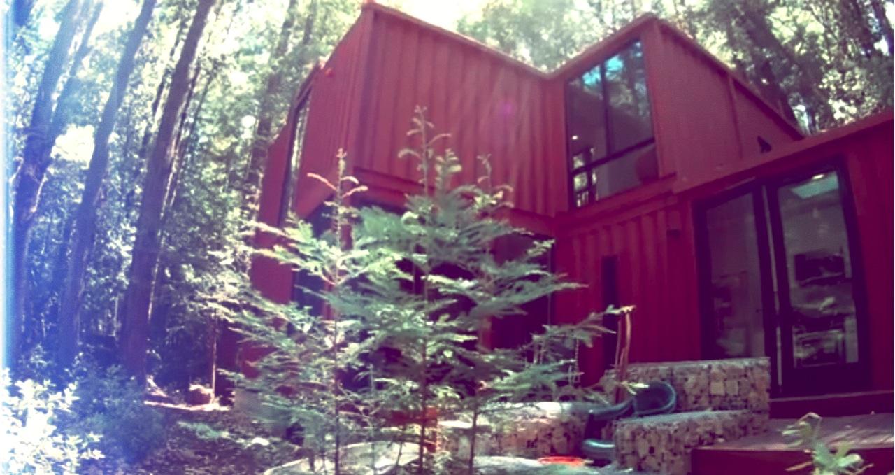 containerhaus im wald. Black Bedroom Furniture Sets. Home Design Ideas