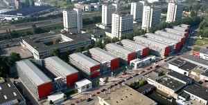 Wirklich viele Container für Amsterdamer Studenten.