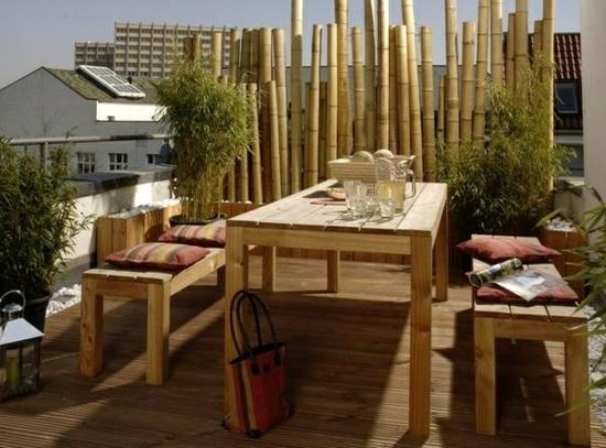 Bambus Balkon Sichtschutz Gestaltung Ideen Im Feng Shui Stil