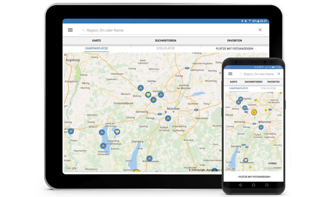 adac camping app android 2018