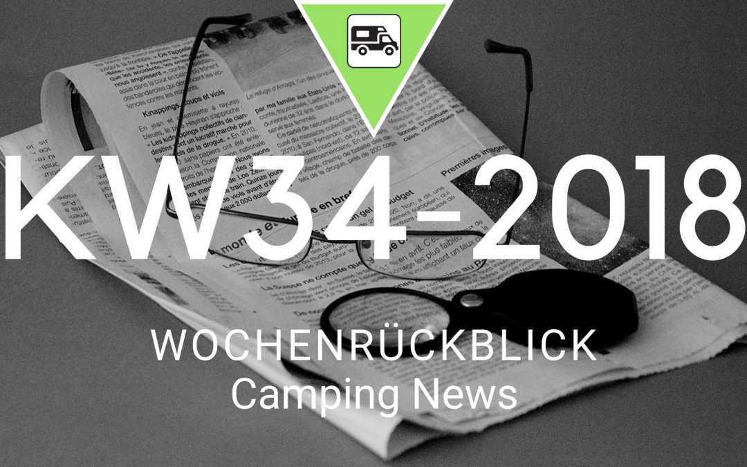 Camping News Wochenrückblick – KW34/2018