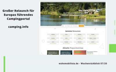 Camping News Wochenrückblick – KW07/2020