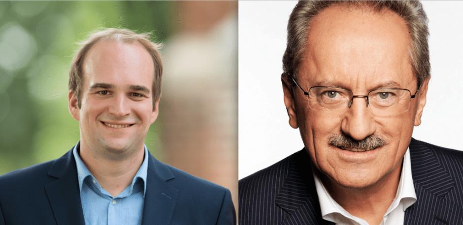 SPD-Bundestagskandidat Sebastian Roloff und Alt-OB Christian Ude