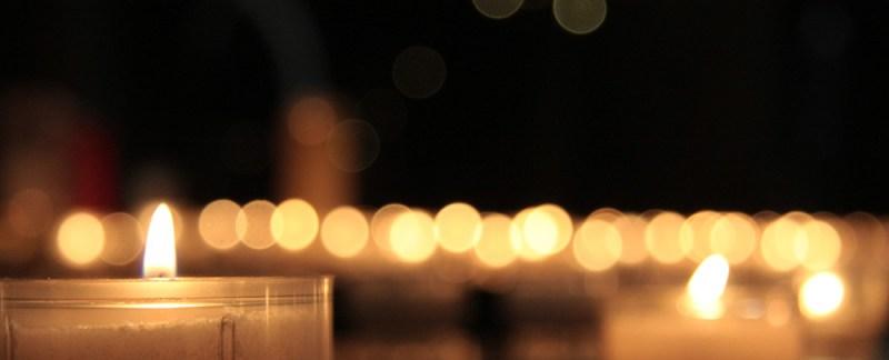 Foto Kerzenlicht in der Abteikirche Sainte-Glossinde zu Metz