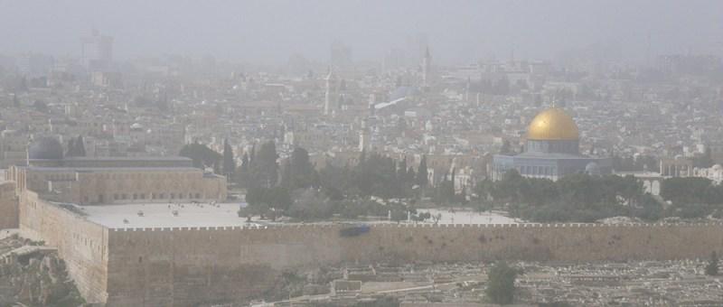 Foto Sandsturm über Jerusalem