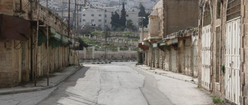 Foto Geschlossene Läden in Hebron