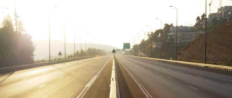 Foto Leere Autobahn