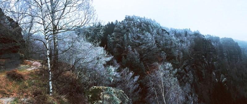 Foto Winterliche Aussicht von der Bussardboofe