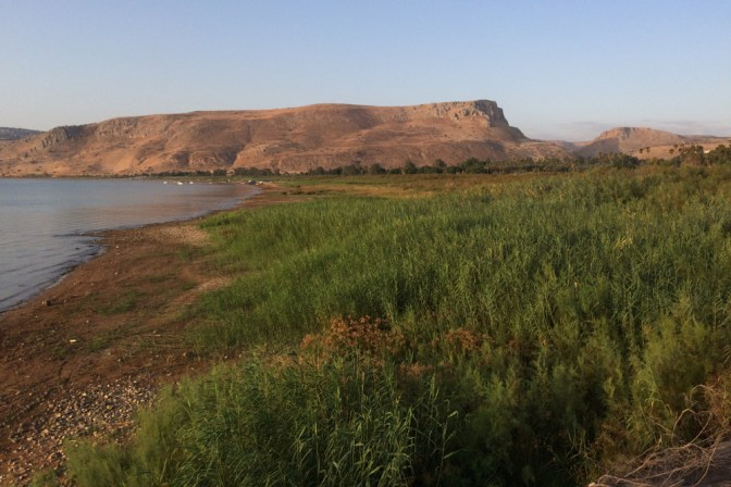 Foto Mt Arbel am See Genezareth