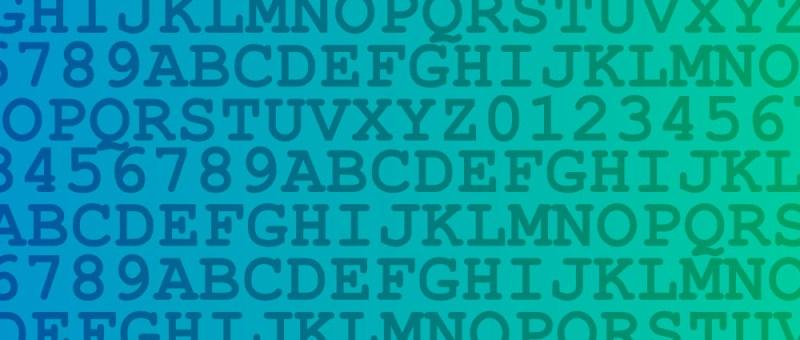 Grafik Zahlen- und Buchstabenreihen