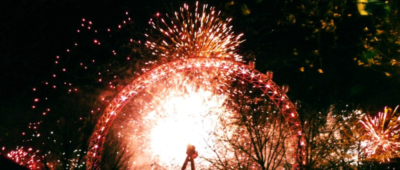Foto Silvester am London Eye