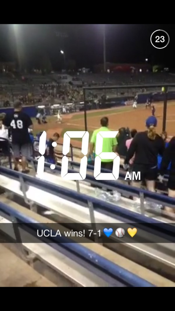 Women's College World Series Softball Snapchat Story on ...