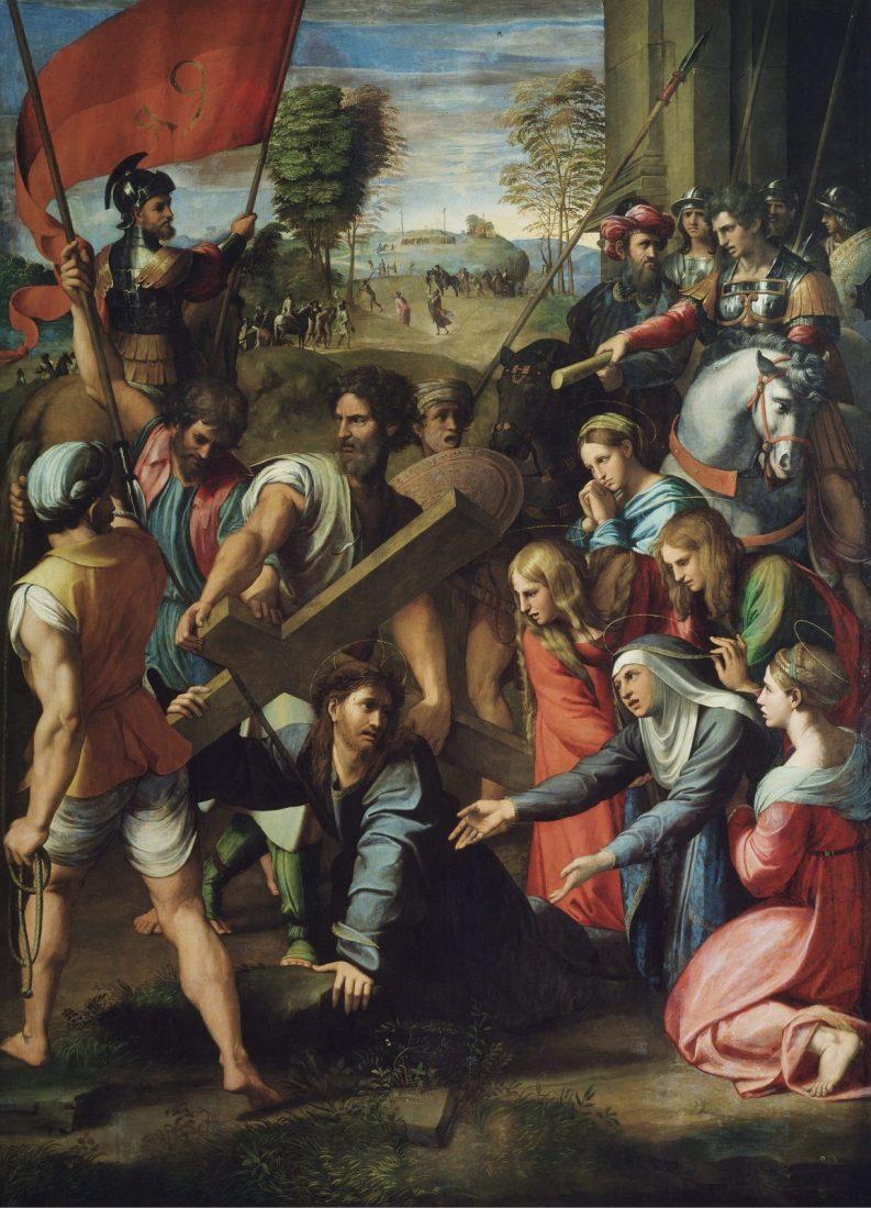 Dźwiganie krzyża na Kalwarię tajemnica bolesna różańca świętego