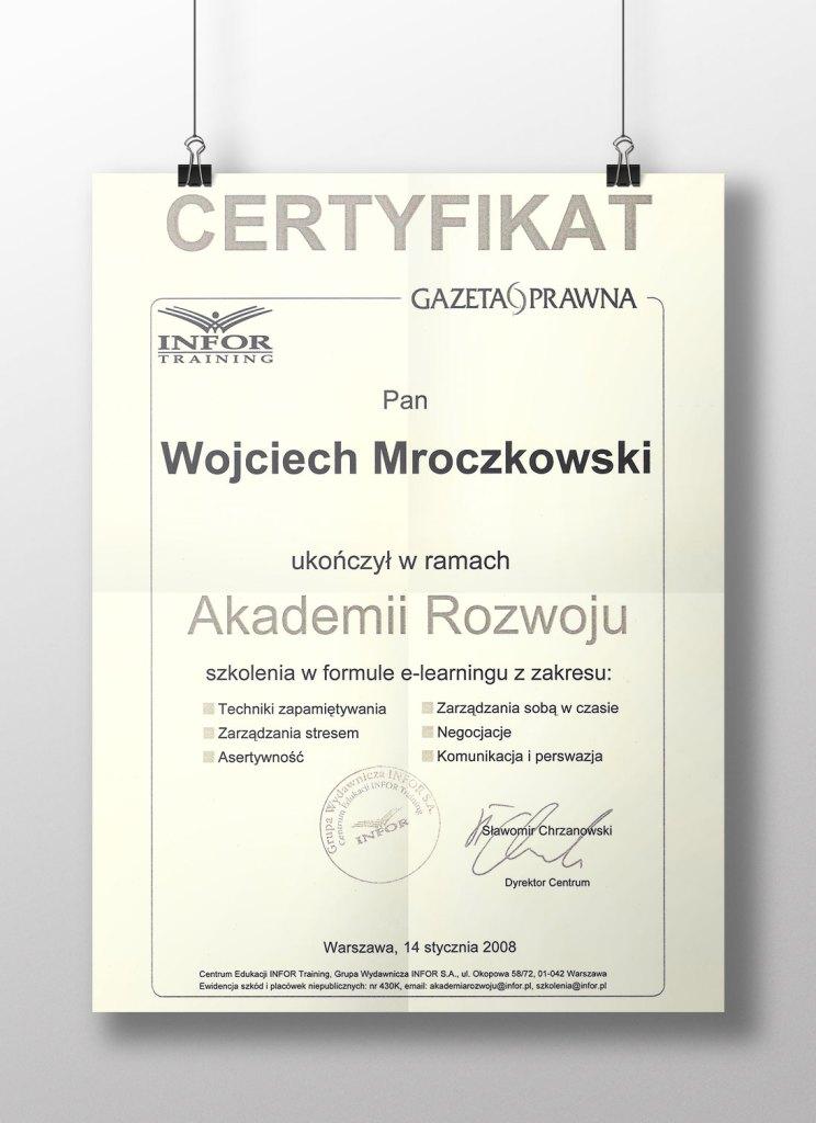 Akademia Rozwoju - Szkolenie e-learning - 14.01.2008