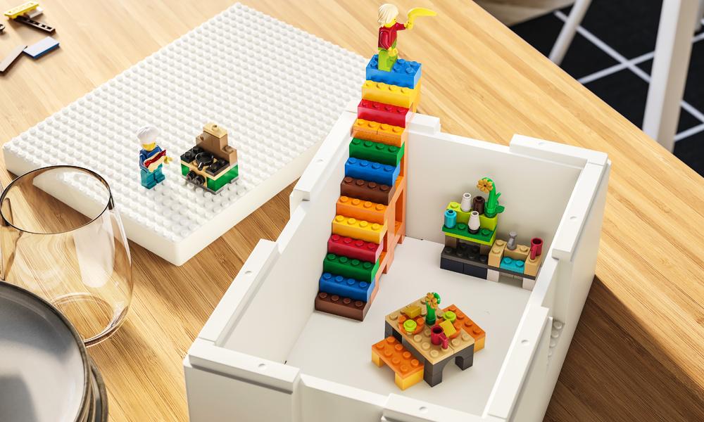 Ikea y LEGO presentan cajas de almacenaje que estimulan la creatividad de los niños