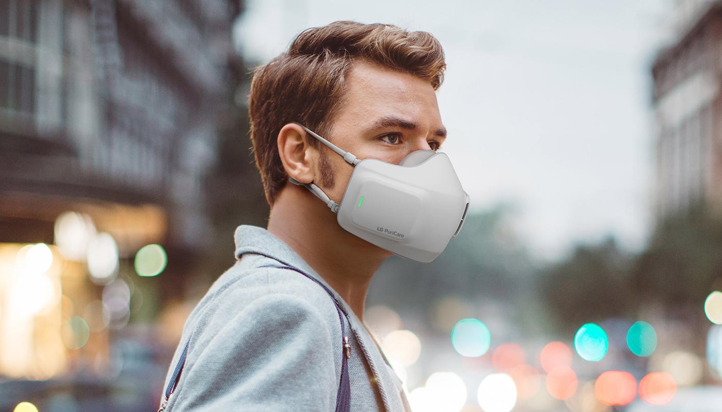 Este cubrebocas de LG purifica el aire que respiras