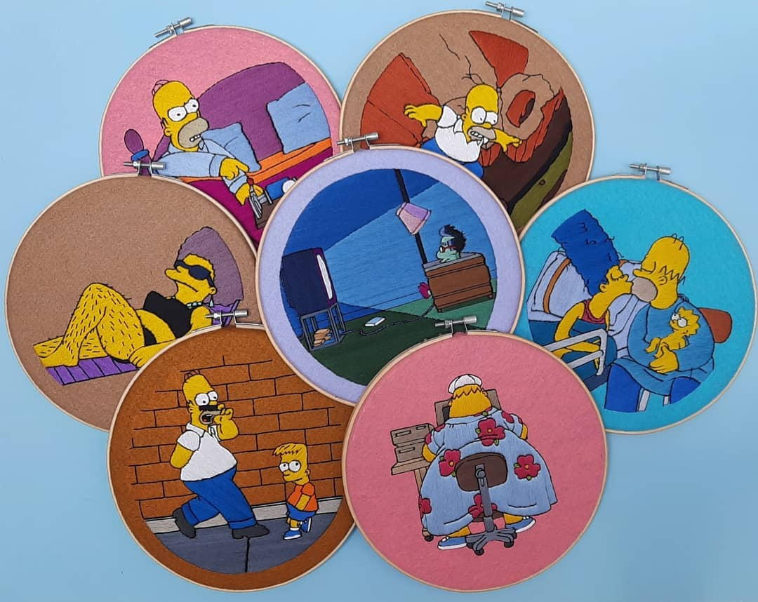 ¡Ay, caramba! Estos bordados de los Simpson se están volviendo un objeto de culto