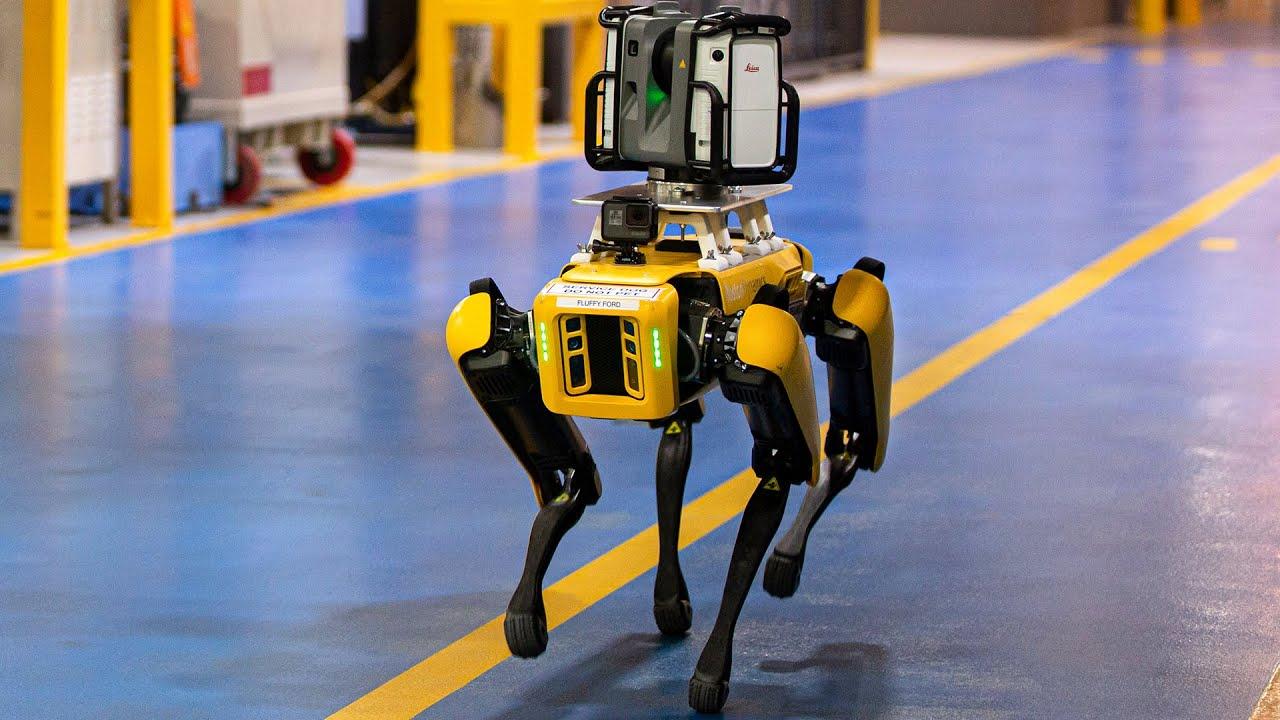 Los impresionantes (y algo temibles) perros robot de Boston Dynamics para Ford