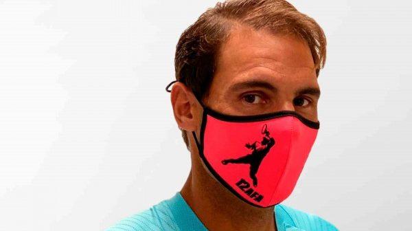 Después del Roland Garros, Rafa Nadal pone a la venta cubrebocas conmemorativos