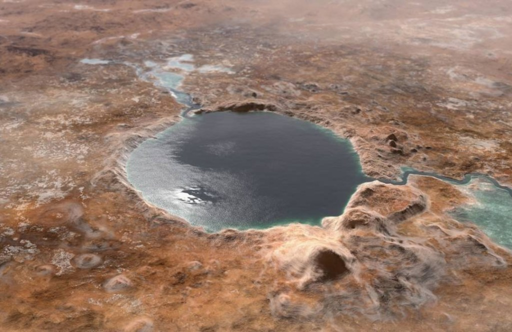Así es Jezero, el cráter de Marte donde aterrizará el rover Perseverance