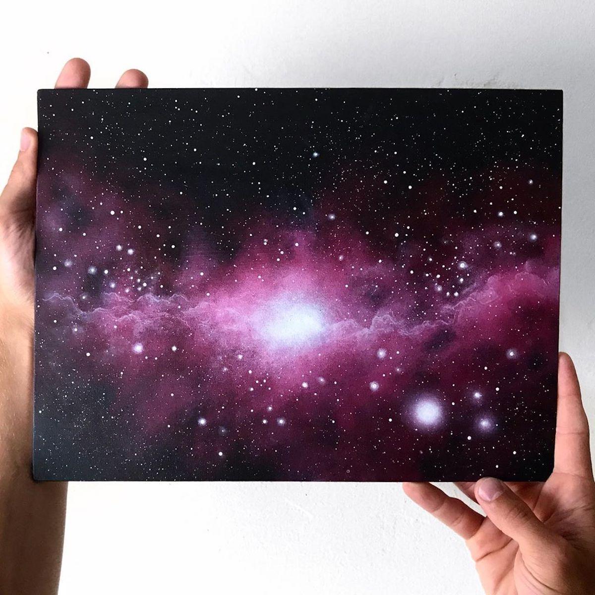 Estas pinturas hiperrealistas te harán viajar al espacio